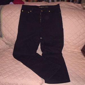 "Liz Claiborne black denim ""Hepburn"" jeans"